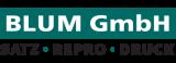 Logo Blum GmbH Satz ∙ Repro ∙ Druck