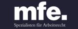 Logo mfe. Rechtsanwälte